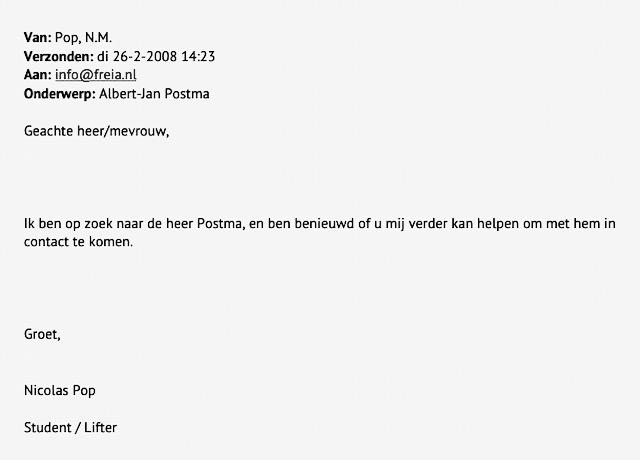 Het ontstaan van fitch begon met een e-mail waarin Nicolas Pop contact zocht met zijn liftgever Albert-Jan Postma.